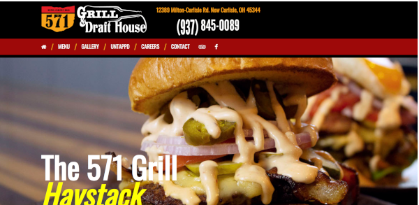 571 Grill Website Image