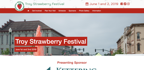 Troy Strawberry Festival Website Image