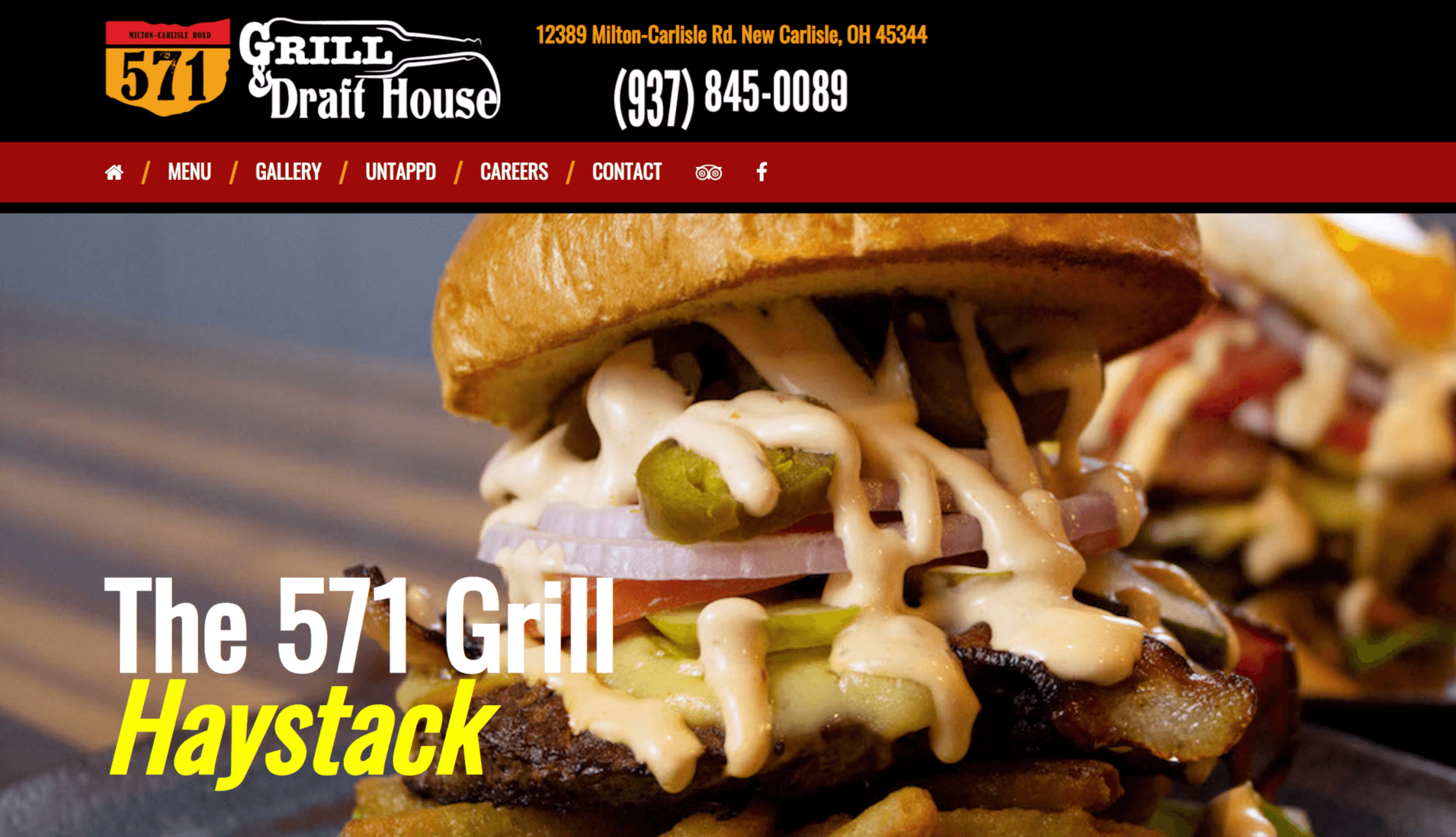 Website for 571 Grill