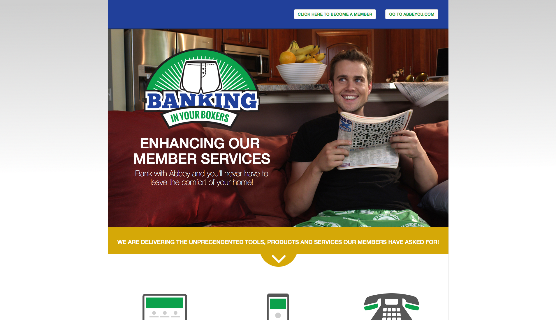 Website for Abbey Boxer Banking